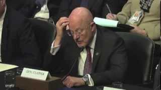 James Clapper (DNI) Lies to the Senate About the NSA
