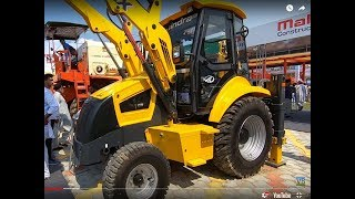 Mahindra Earth Master SX backhoe loader full technical details In PAU exhibition