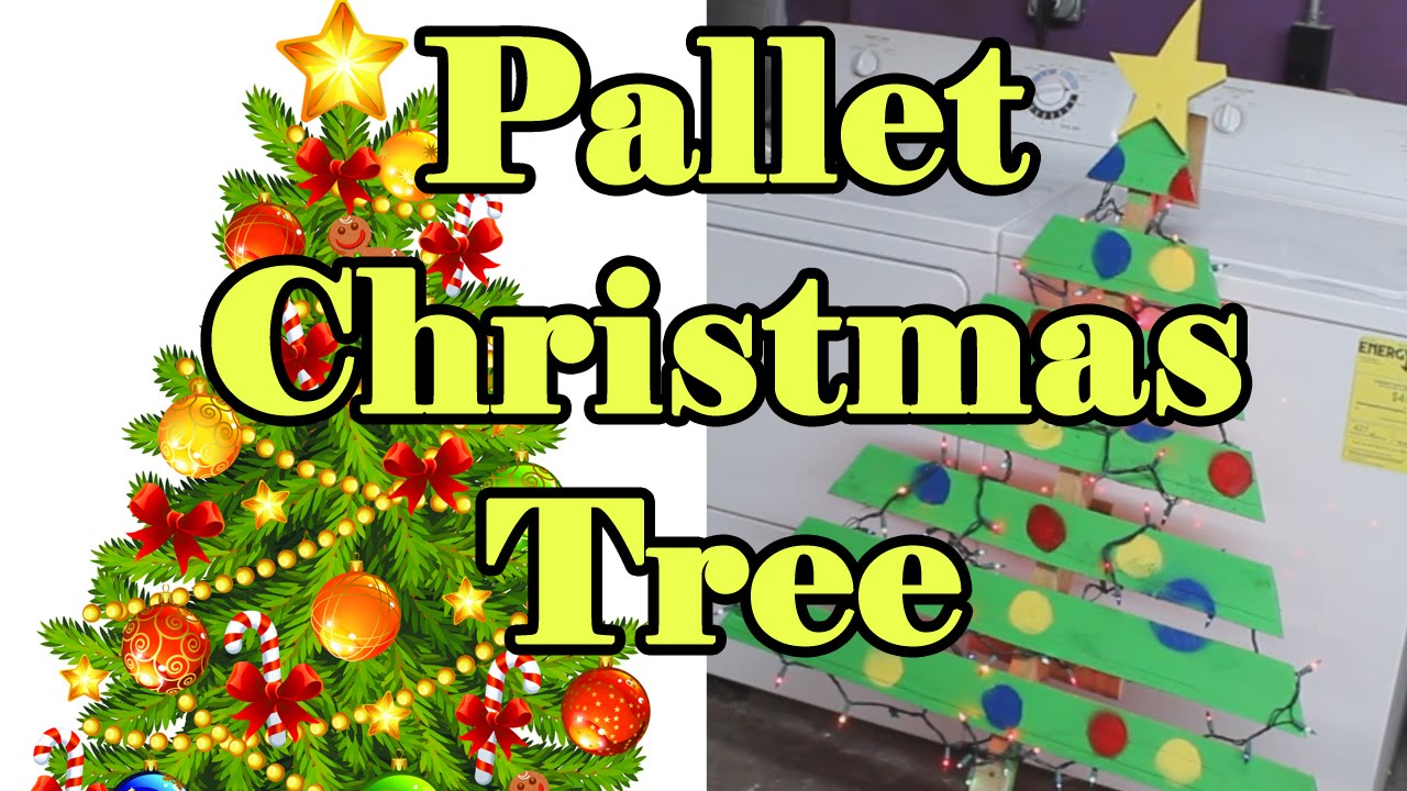 Pallet Christmas Tree Project - YouTube