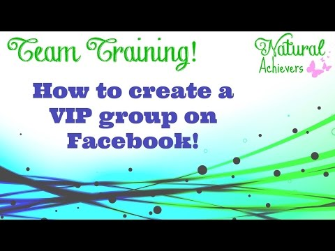 Create a VIP client group on Facebook
