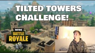 JEG LANDER I TILTED TOWERS CHALLENGE!! 😱🔥 FORTNITE (BATTLE ROYALE)