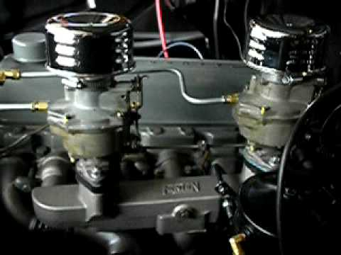 1957 Chevy 235 Fenton Dual Carbs Youtube
