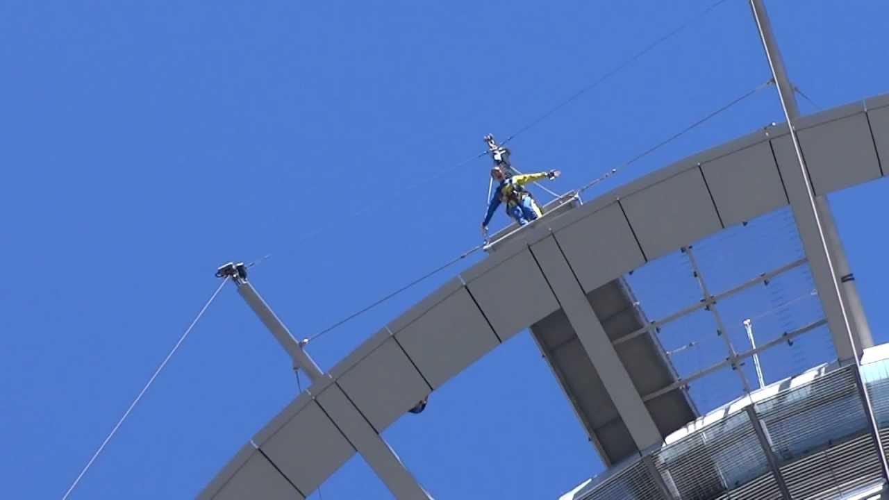 Sky Tower Bungy Jump - Auckland, New Zealand - YouTube