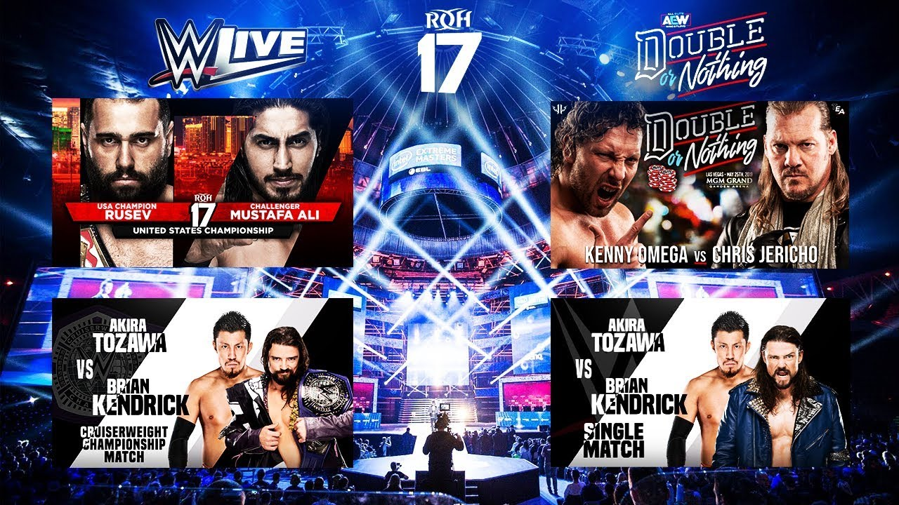 aew double or nothing  roh 17th anniversary  wwe live