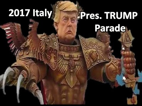 President Donald John Trump Gets float, actors dressed like him at parade at 2017 Italian Parade
