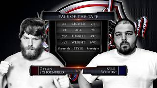 """Caged Aggression Challengers 7 """"Road to the Big Show"""" Fight 4. Dylan Schoenfeld vs Kyle Woods"""