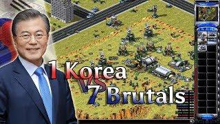 Red Alert 2 - Korean Fighters vs 7 Brutals + Superweapons
