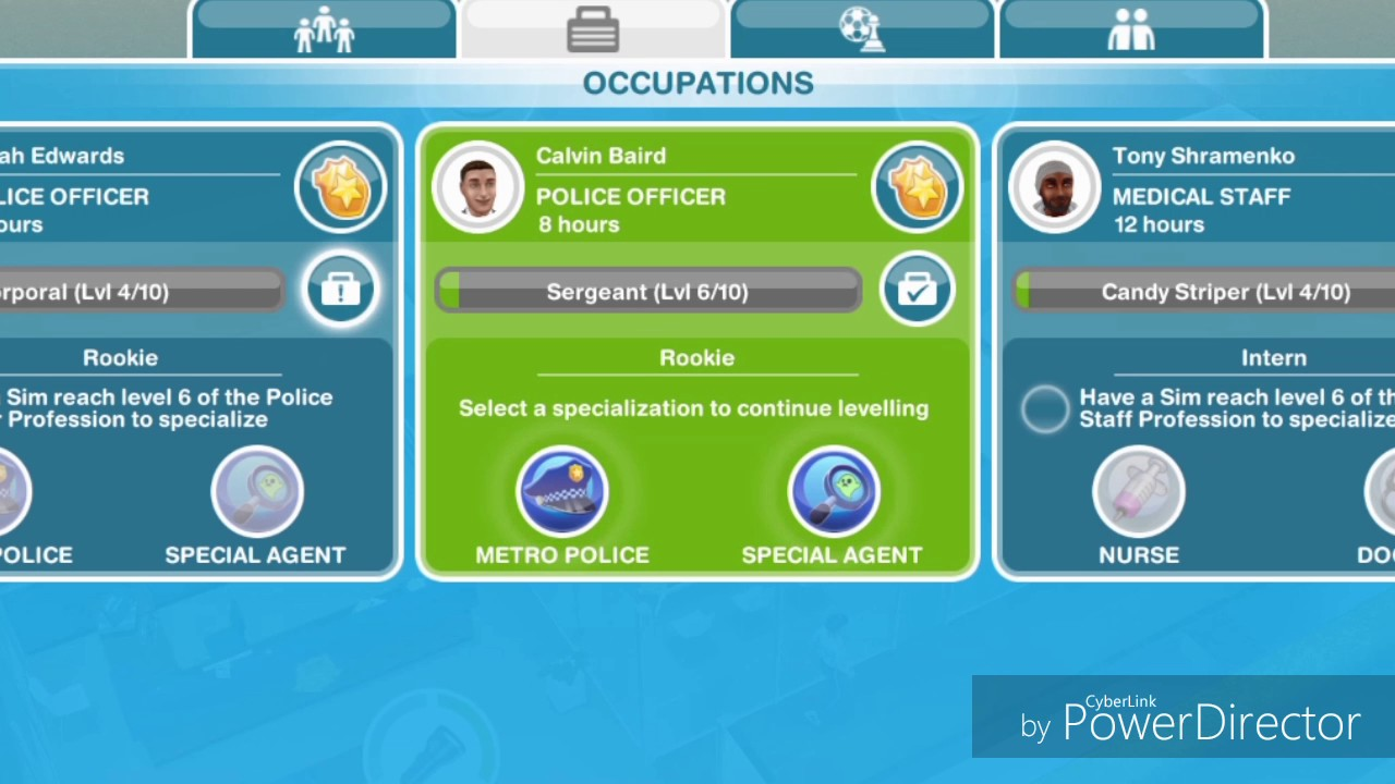 Download The Sims Freeplay: Professions Specialization Training