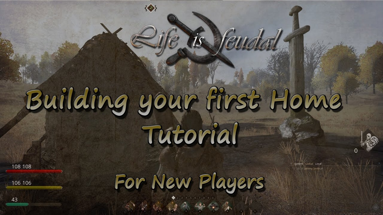 building your first home tutorial - life is feudal - youtube