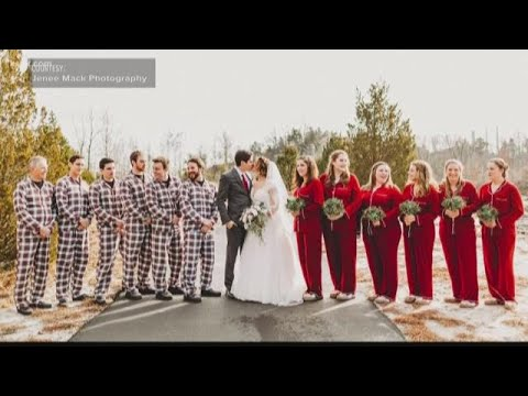 St Charles County Wedding Party Opts For Pj S Instead Of Suits And