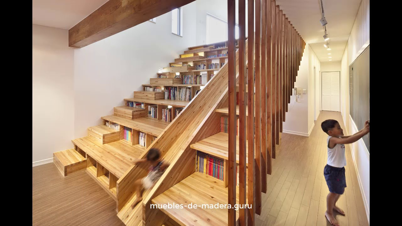 20 ideas de escaleras modernas en madera r stica youtube for Escaleras de madera tijera precios