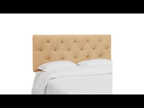 Skyline Furniture Diamond Tufted Velvet Headboard  Twin