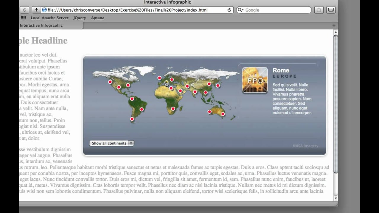 Creating An Interactive Map With Jquery