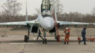 На Дальнем Востоке в небо поднялись самолеты нового поколения Су-35С