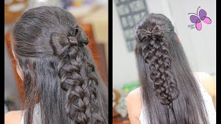 Hair Bow with Loop Braid | Braided Hairstyles | Hairstyles for Girls | Chikas Chic
