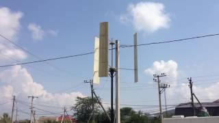 Вертикальный ветрогенератор(Вертикалка, ротор Дарье, профиль NACA6409 диаметр 2м высота 2м, скорость ветра 4-6м/с. Короче ни фига не пашет, нужн..., 2016-08-24T13:35:51.000Z)