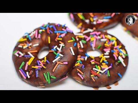 Cake Donuts Recipe - Without Oven Baked Doughnuts - Kitchen With Amna