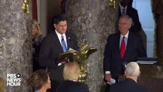 House Speaker Paul Ryan toasts Vice President Mike Pence