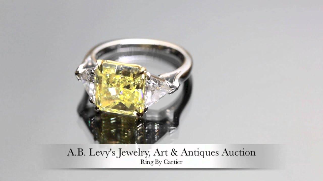 cartier yellow diamond ring youtube