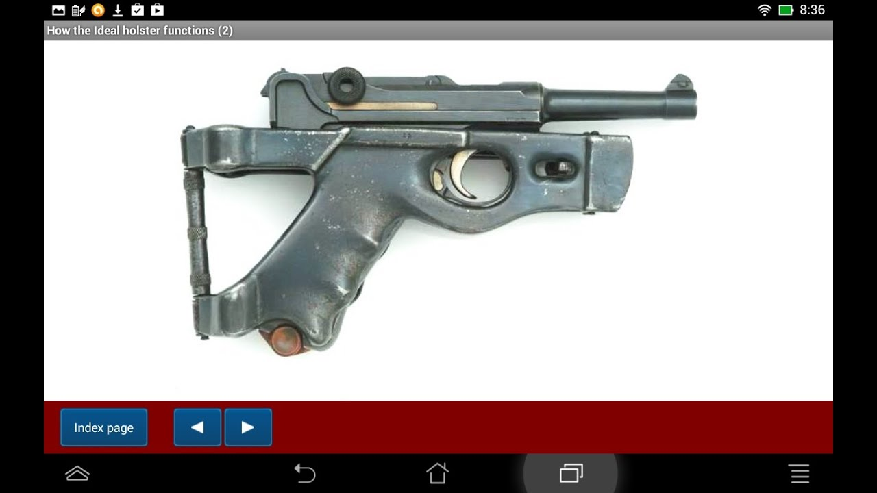 Luger pistol accessories explained - Android APP - HLebooks.com - YouTube