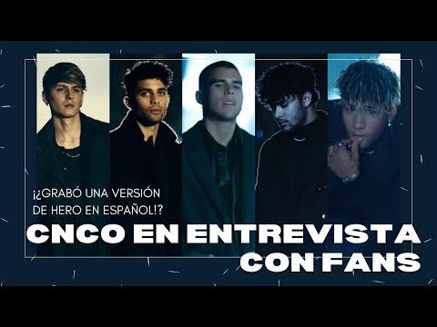 #CNCO en entrevista con fans | ¿¡Grabaron una versión de #Hero en español!?