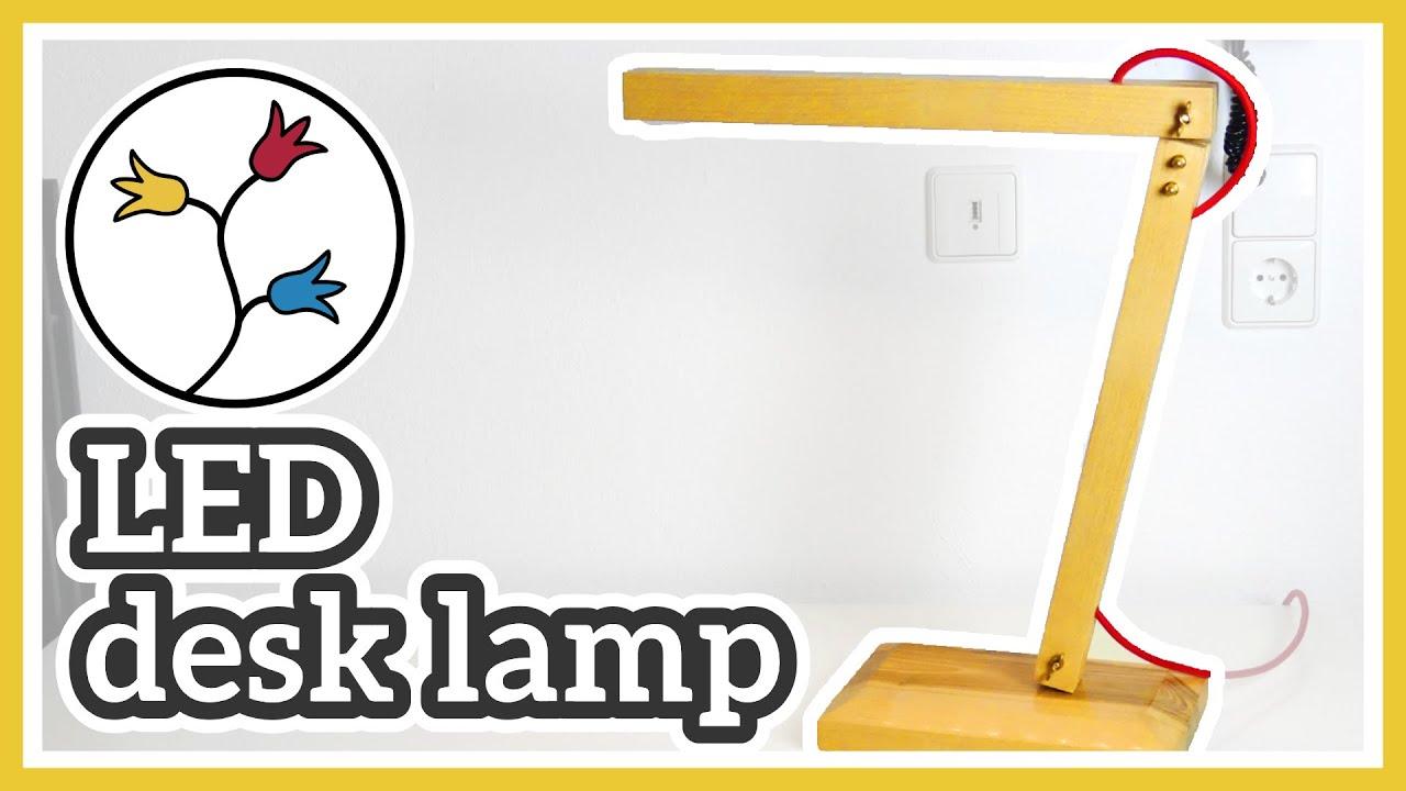 DIY DESK LAMP  MAKE a modern LED DESK LAMP - YouTube