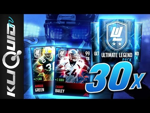 30x ULTIMATE LEGEND PACKS! 99 Champ Bailey and Ahman Green! 400K+ COIN PULL | Madden Mobile