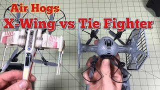 Air Hogs X Wing vs Tie Fighter Unboxing and First Combat