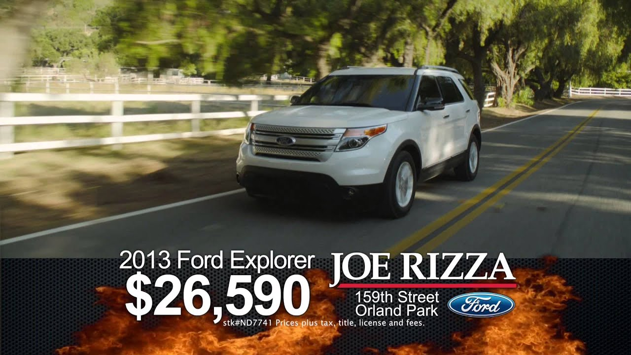 Joe Rizza Ford Orland Park Hot Ford Deals Youtube