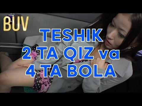 TESHIK 2 TA QIZ 4 TA BOLA BILAN KECHQURIN