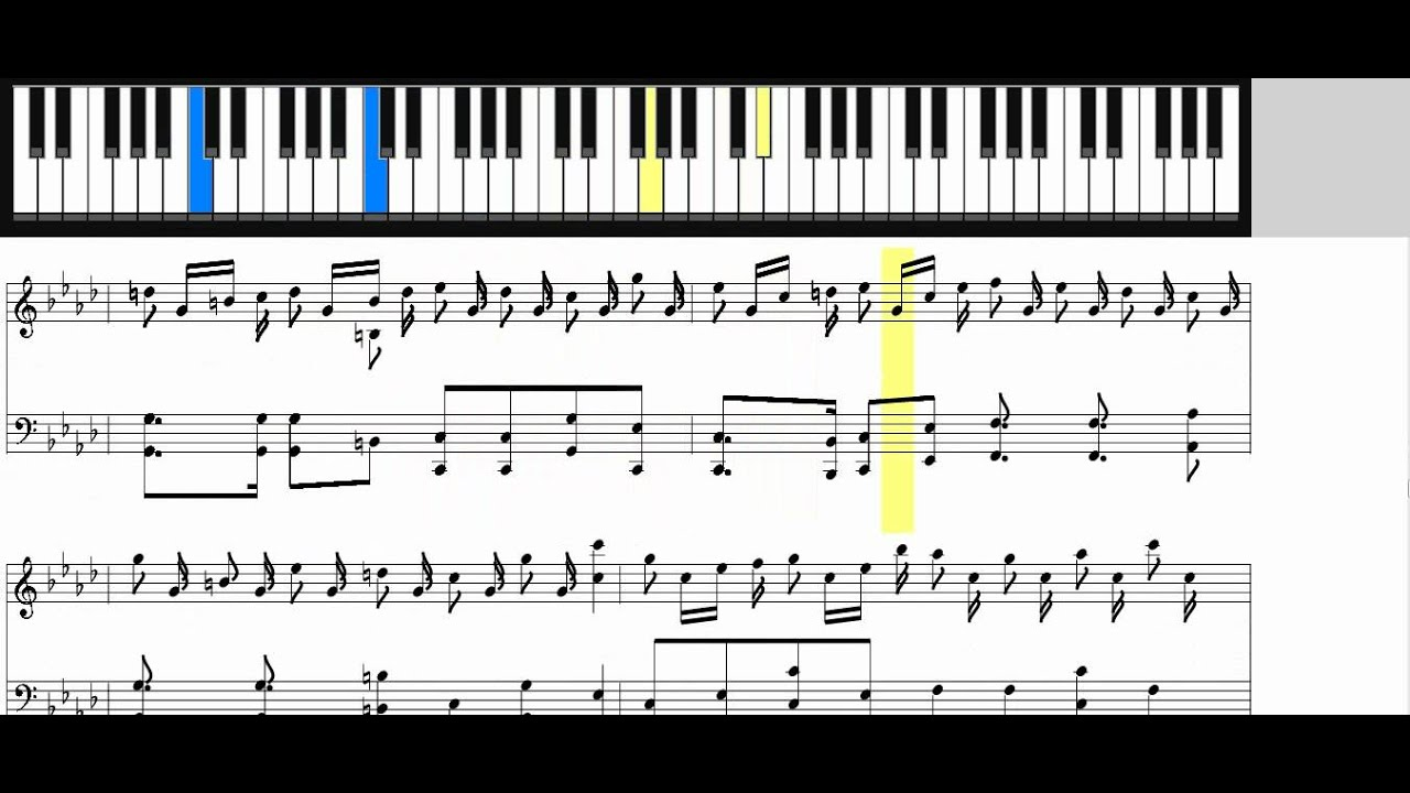 partition piano croatian rhapsody