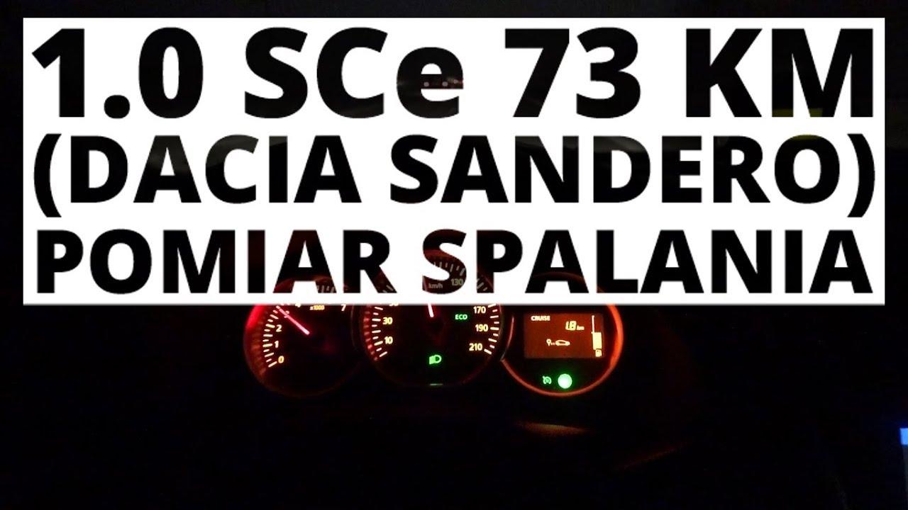 Dacia Sandero 1.0 SCe 73 KM (MT) – pomiar zużycia paliwa