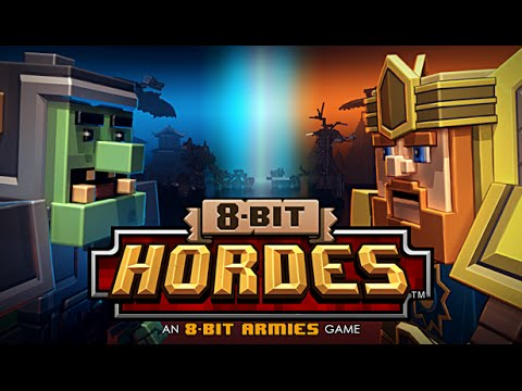 8-bit Hordes title screen