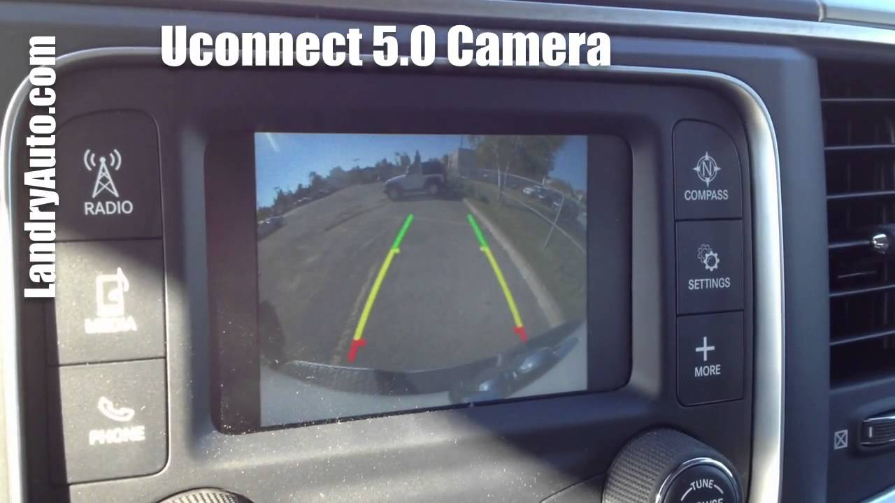 Camera de recul Unconnect 5.0 Chrysler Dodge Jeep Ram - YouTube