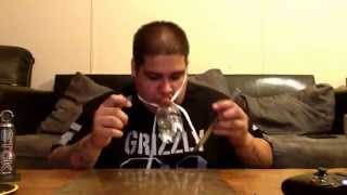Knife hits and chuggin a beer