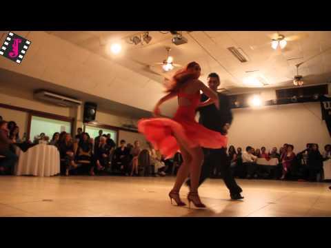 Veronica Alvarenga y Eduardo Arias en el Homenaje a Parejita