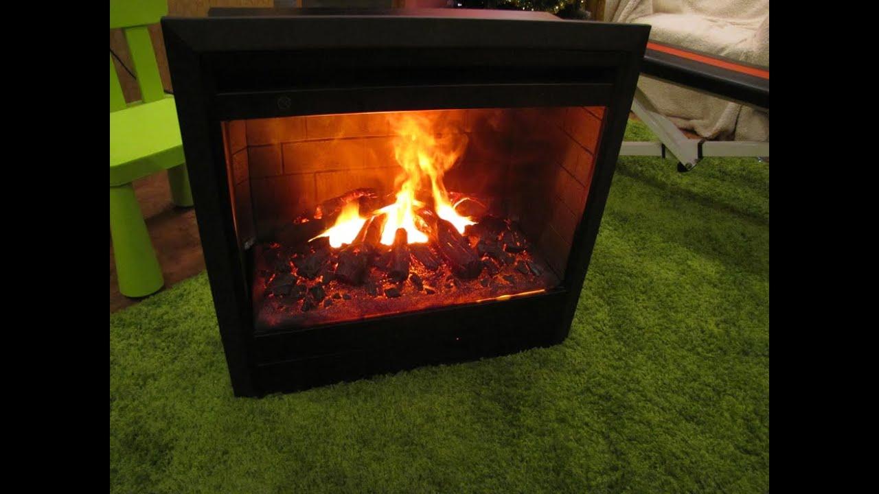 Камин электрический с эффектом живого огня видео шашлычница барбекю с трубой металл