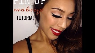 Pin Up/ Classic Red Lip Makeup Tutorial Thumbnail