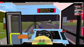 Roblox Gameplay: Salisbury & District Bus Simulator - Route 8 to Salisbury Bus Station