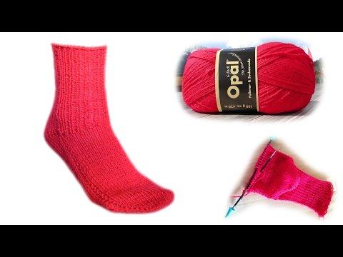 Die 2 Nadel Socke Strickanleitung - Woolpedia®