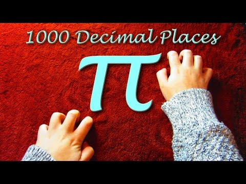 1000 Decimal Places of Pi ~ counting with scratching sounds ASMR
