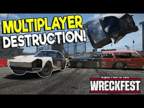 EXTREME MULTIPLAYER FIGURE 8 & DEMO DERBY! - Next Car Game: Wreckfest Gameplay - Wrecks & Races |