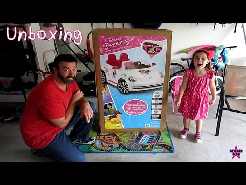 Disney Princess VW Beetle Car - Unboxing & Complete Build done in fast forward!!!