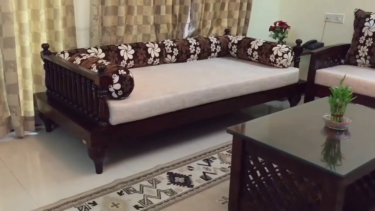 Wooden Sofa Set Traditional Indian Style Youtube