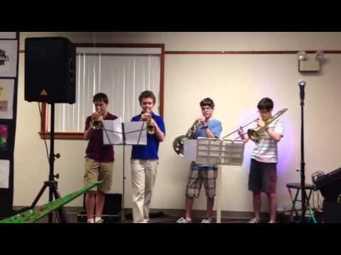 Brass Quartet at Garden Spot Middle School Art Show