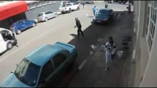 Disturbing hit and run in Newtown, Johannesburg. 2016-11-15
