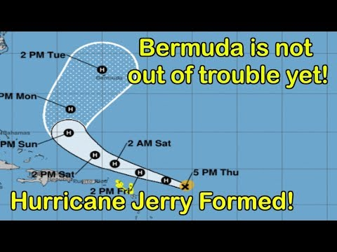 Bermuda Is Not Out Of Trouble Yet As Hurricane Jerry Formed And Could Head Towards The Island!!!