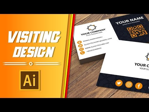 Professional Business Card Design Tutorial - Illustrator cc thumbnail
