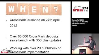 CrossCheck and CrossMark Update