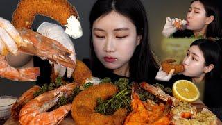 킹블랙타이거새우 새우튀김 버터구이 먹방GIANT TIG…